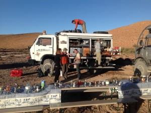 Lunch, Marokko Erg Chegaga Expeditie