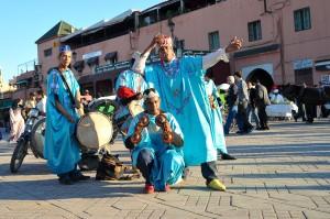 Artiesten, Djemaa el Fna, Marrakech, Marokko Erg Chegaga Expeditie