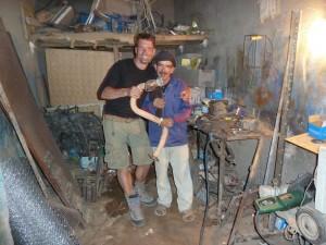 Lokale garage, 4x4 Marokko Erg Chegaga Expeditie